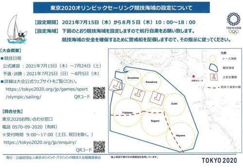 東京2020オリンピックセーリング競技海域について